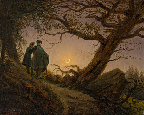 Caspar David Friedrich, Two Men Contemplating the Moon